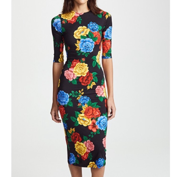 ed9ee68f46d3 Alice + Olivia Dresses | Alice Olivia Delora Floral Fitted Midi ...